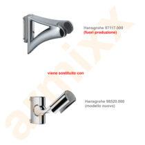 HANSGROHE -98520000 - 97117000 Supporto per asta Unica Raindance Cromato