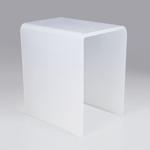 NOVELLINI - SED03OPL - Sedile in acrilico opalino 32 x 16 h 40 cm