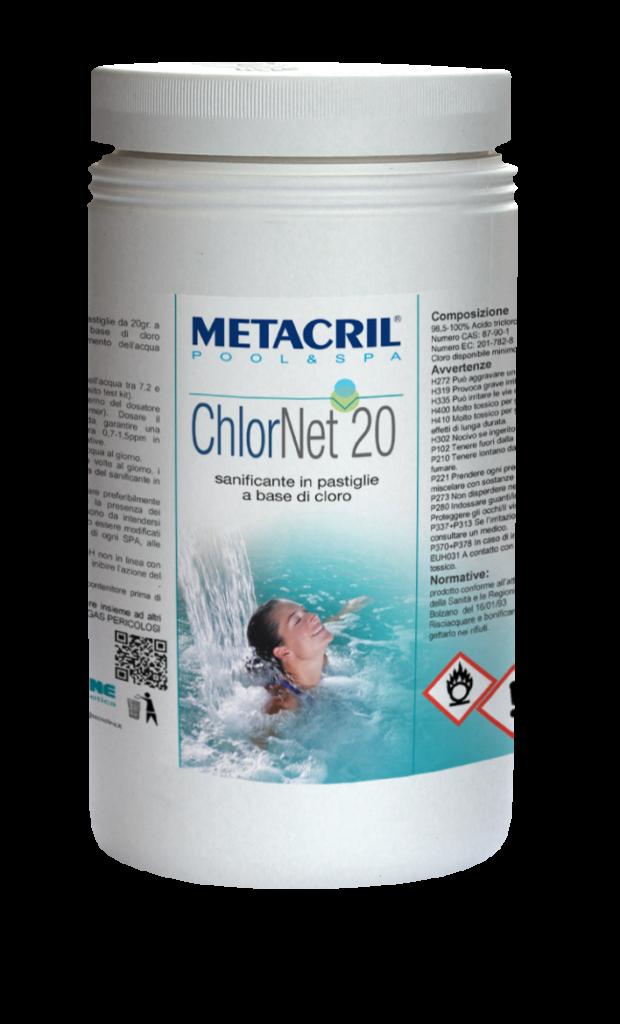 CHLOR NET 20 1 Kg - Trattamento di mantenimento a base di cloro in pastiglie da 20gr cadauna
