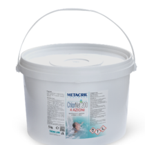 CHLOR NET 200 - 4 AZIONI - 5Kg - Trattamento Sanificante-Stabilizzante-Antialga-Floculante in pastiglie da 200Gr cadauna