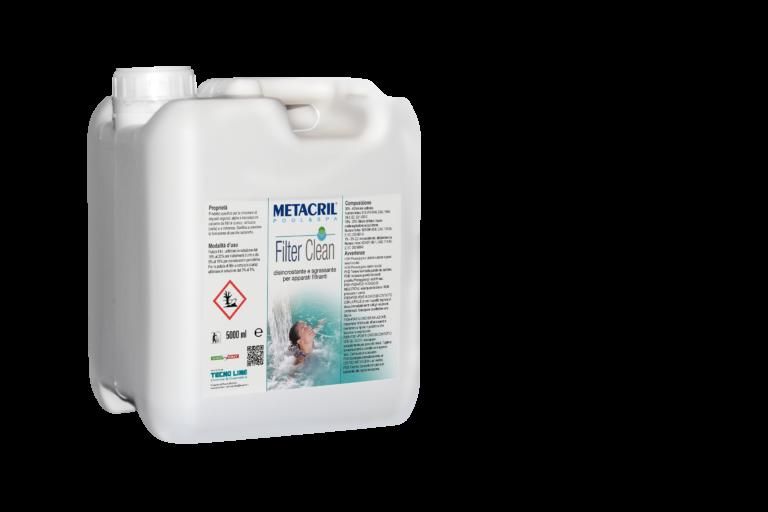 FILTERCLEAN 5Lt - Disincrostante, sgrassante e sanificante per apparati filtranti in carta, sabbia, vetro