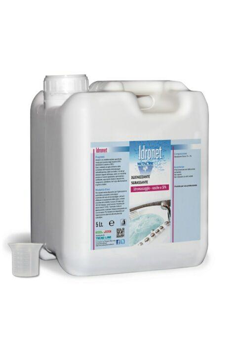 IDRONET - 5 Litri Igienizzante sanificante per impianti idromassaggio non schiumogeno e sgrassante