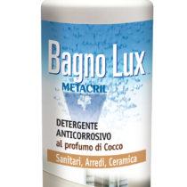 BAGNO LUX - 500ml Detergente anticorrosivo per la pulizia dei sanitari, ceramiche e arredi (nota aromatica al cocco)