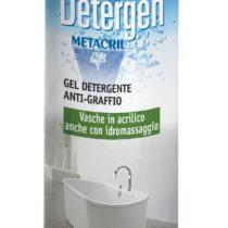 DETERGEN - 1000ml Detergente antigraffio per vasche e superfici acriliche